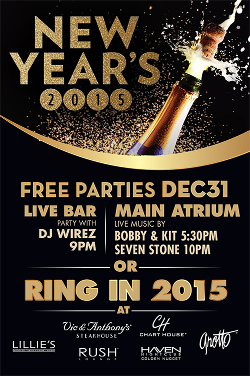 Golden Nugget New Years Party