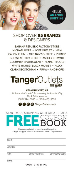 The Walk Atlantic City Tanger Outlets AC Coupon