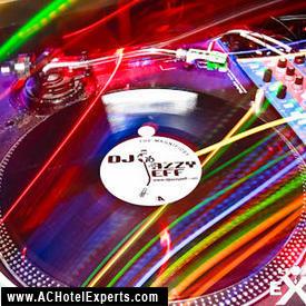 Turntables of DJ Jazzy Jeff in Atlantic City